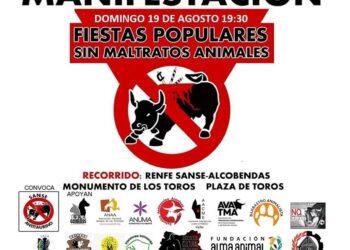 Manifestación el 19 de agosto. Sanse Antitaurino: «Por unas fiestas populares sin maltratos animales»