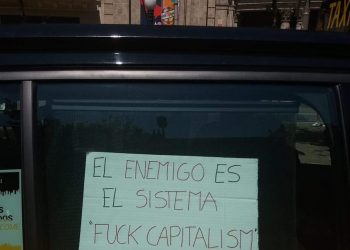 República en Marcha apoya a los taxistas en su lucha contra la acumulación capitalista. Por el avance en su conciencia obrera y en la profundización de sus reivindicaciones de clase trabajadora