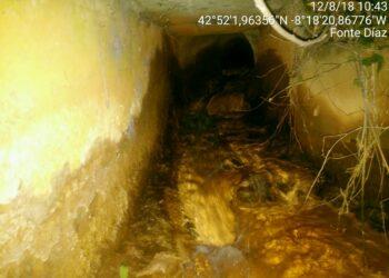 Augas de Galicia tilda de «lamentable» o estado do río Portapego contaminado pola mina de Touro