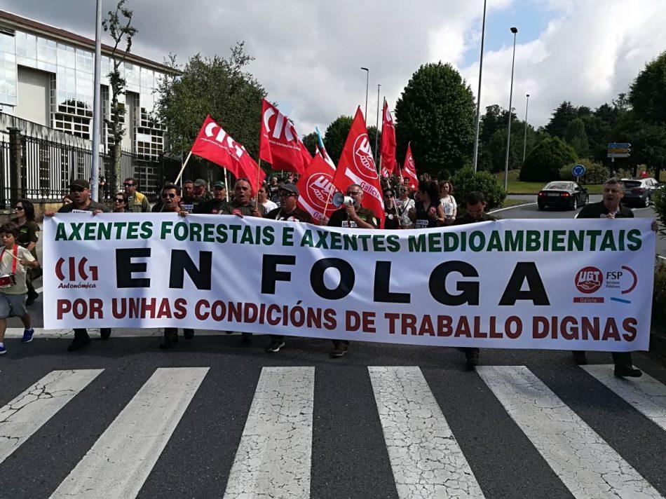 Compromiso por Galicia manifesta o seu apoio á loita do colectivo dos axentes forestais