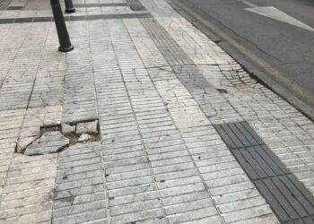 Ganar Alcorcón propone la reparación integral de las aceras de la ciudad