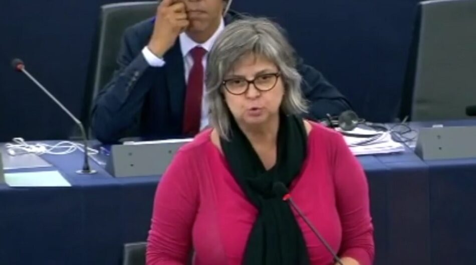 La eurodiputada Paloma López exige revertir las reformas laborales alentadas por Bruselas para asegurar los sistemas de pensiones públicos
