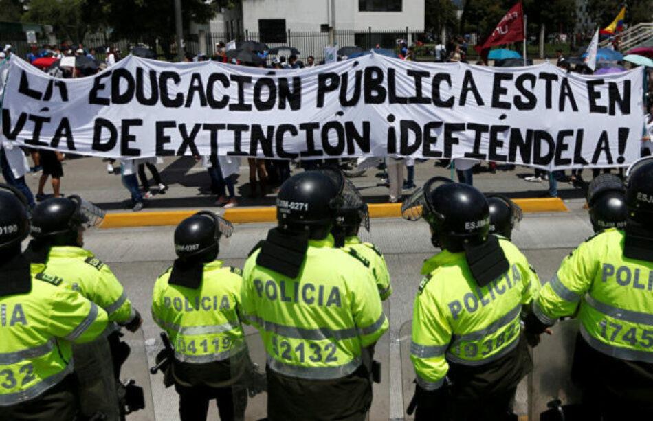 Estudiantes de universidades públicas de Colombia regresan a las calles por presupuesto