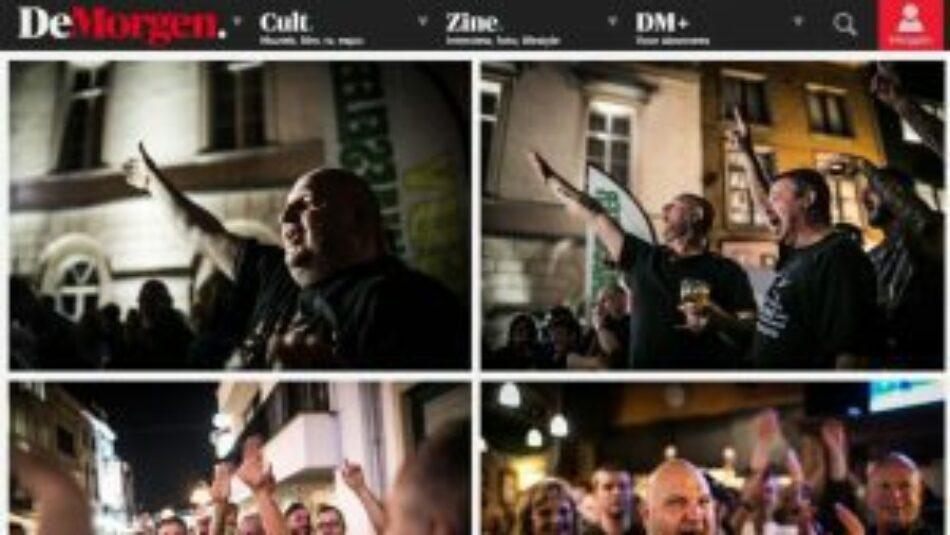 La ultraderecha belga celebra su triunfo municipal con saludos nazis