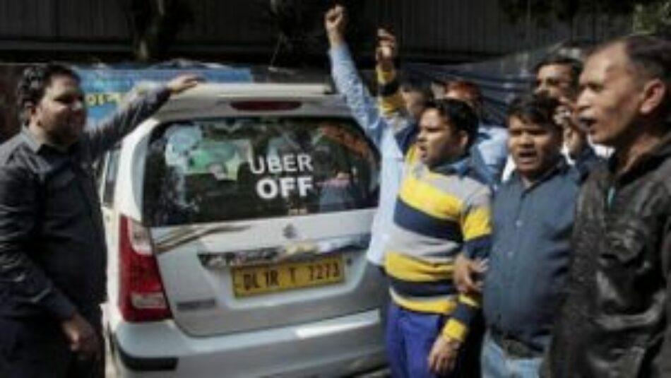 Huelga de los conductores de Uber en Gran Bretaña