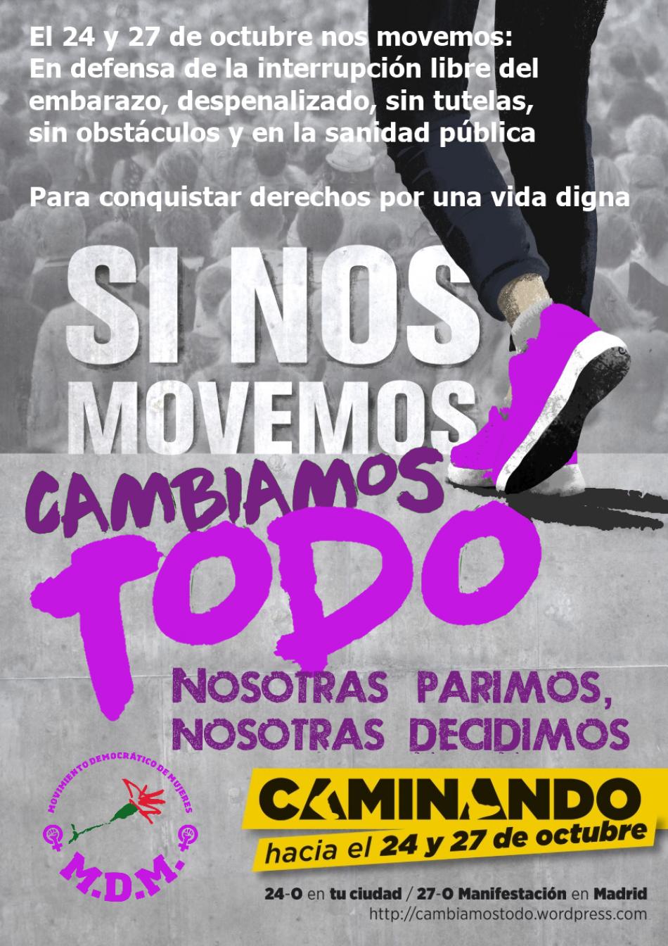 «Caminando hacia el 24 y 27 de octubre: si nosotras nos movemos, cambiamos el mundo»