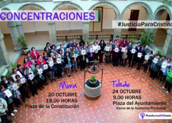 Colectivos feministas se manifiestan en Toledo exigiendo «Justicia para Cristina»