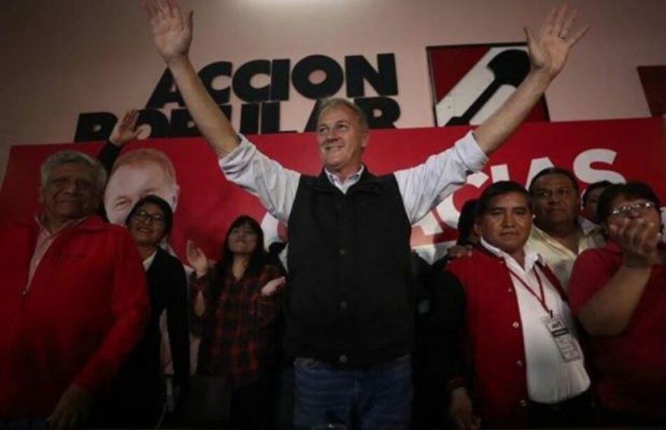 Perú. Al 86.6% del conteo de votos, el derechista Jorge Muñoz es el electo alcalde de Lima con 34.8%