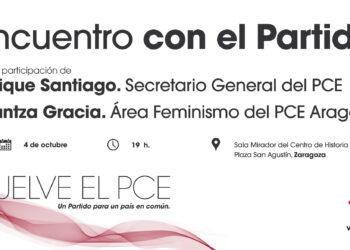 Encuentro con el PCE en Zaragoza