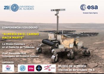 Conferencia/Coloquio «Almería en el camino hacia Marte»: la misión Exomars en el desierto de Tabernas
