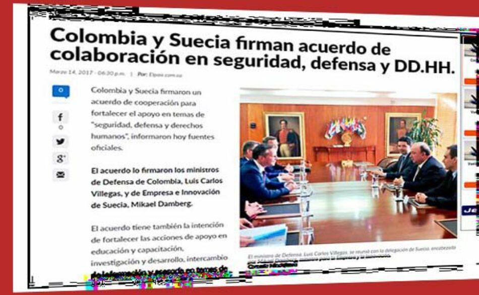 Colombia: Industria militar sueca pesca en el rio revuelto de una eventual guerra desde Colombia contra Venezuela
