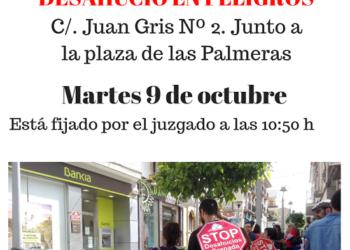 Bankia intenta, por segunda vez, desahuciar a una familia en Peligros