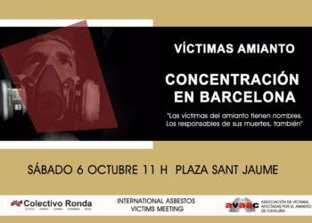 Barcelona acoge del 4 al 6 de octubre el encuentro internacional de víctimas del amianto