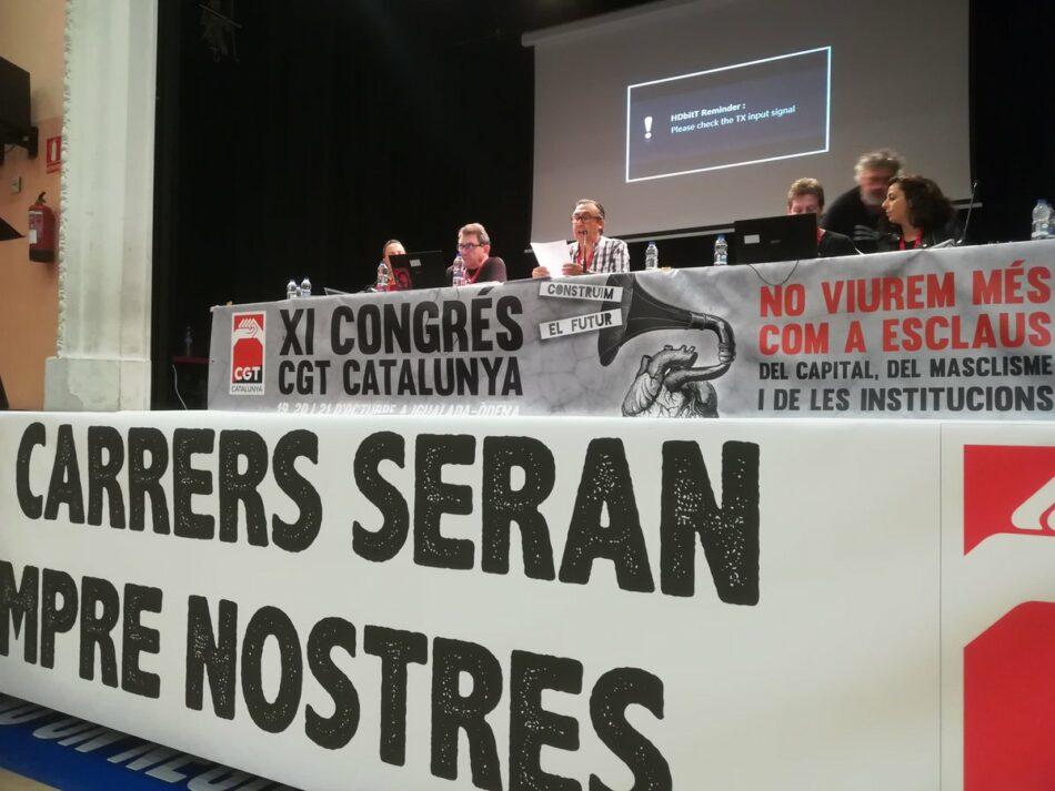 Celebració de l'XIè Congrés de la CGT de Catalunya a Igualada-Òdena