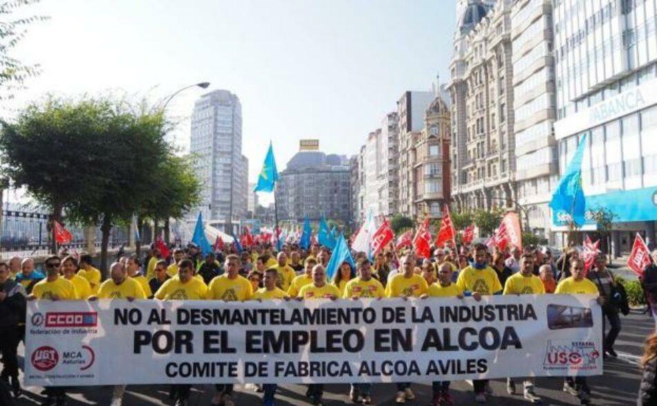 """Izquierda Unida exige en el Parlamento Europeo que la multinacional Alcoa """"retire el expediente de cierre"""" de sus plantas en Avilés y A Coruña"""