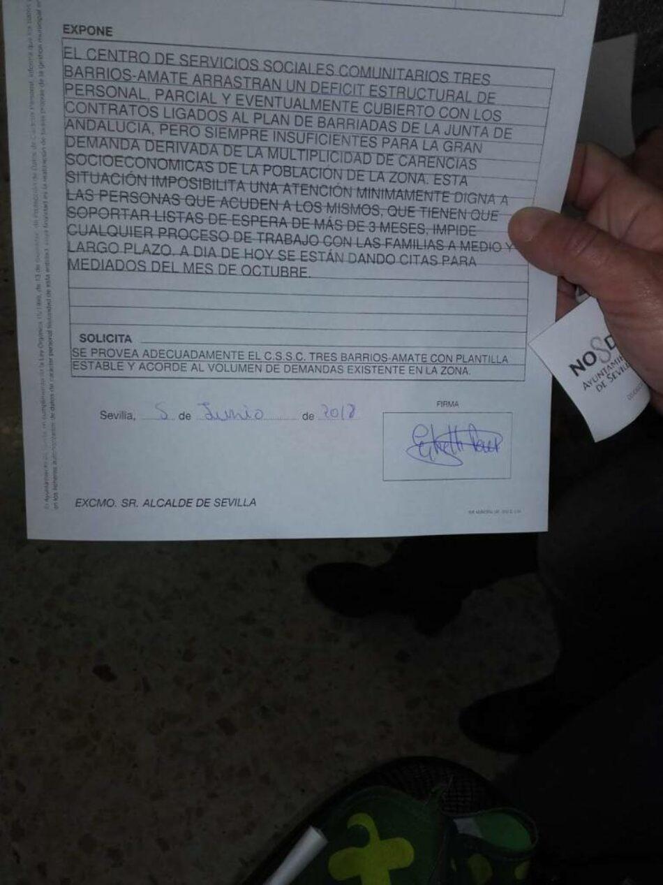 APDHA Sevilla muestra su apoyo a la HUELGA de la plantilla de los Servicios Sociales y Servicio de la Mujer del Ayuntamiento prevista para este 18 de octubre