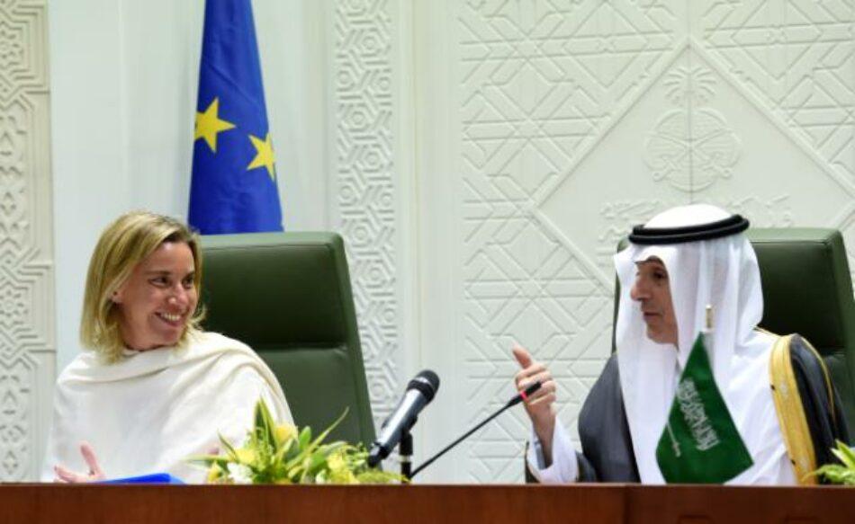 """Vallina insta a Mogherini en el Parlamento Europeo a que """"sea valiente"""" y """"promueva de una vez el embargo europeo a la venta de armas"""" a Arabia Saudí"""