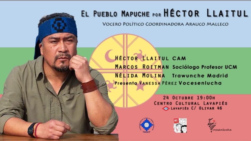 Charla-Debate a cargo de Héctor Llaitul Carrillanca, vocero político de la Coordinadora Arauco Malleco y uno de los más reconocidos defensores de la causa del pueblo mapuche