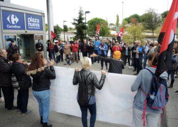 La CGT se manifiesta en Leganés contra la Represión Sindical en Carrefour