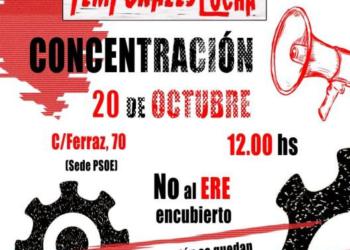 20-O: trabajadores temporales de las administraciones públicas se concentrarán frente a la sede del PSOE en Madrid