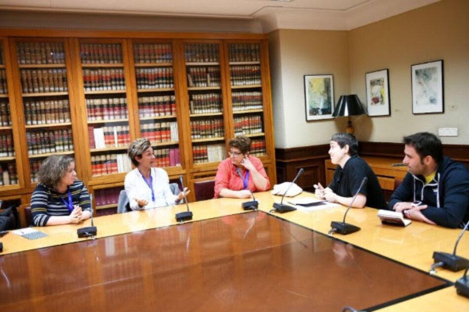 Unidos Podemos con la olímpica Leire Olaberria y contra la discriminación en el deporte