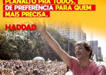 Este 7 de de Octubre Haddad es Lula, nuestro apoyo contra el fascismo y las élites saquedoras
