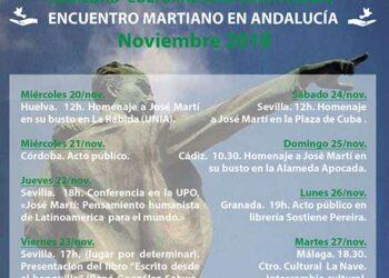 Intenso programa del Héroe cubano René González con la Sociedad Cultural Cubano Andaluza «José Martí»: actos públicos del 20 al 27 de noviembre