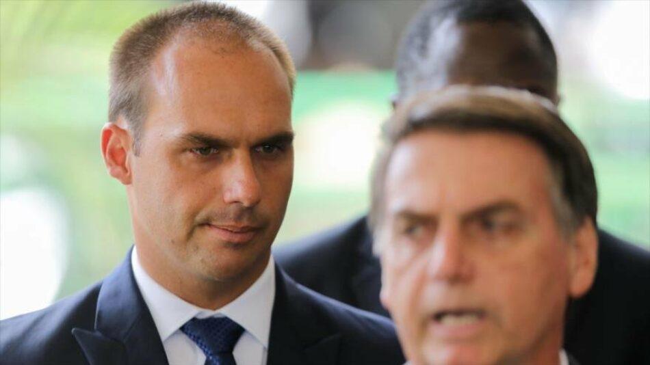 Hijo de Bolsonaro sugiere planes para sancionar a Venezuela y Cuba