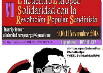 Declaración final del VI Encuentro Europeo de Solidaridad con la Revolución Popular Sandinista