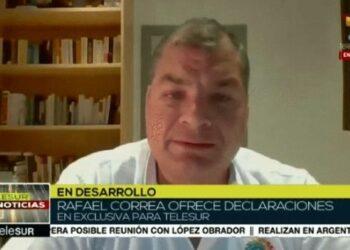 Rafael Correa: «No nos pueden vencer en las urnas y aplican el lawfare»