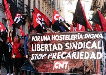 Crónica de una manifestación por la libertad sindical y una hostelería digna en Málaga