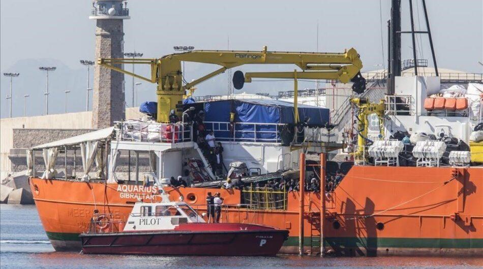 Despedidos los trabajadores que acogieron al barco Aquarius