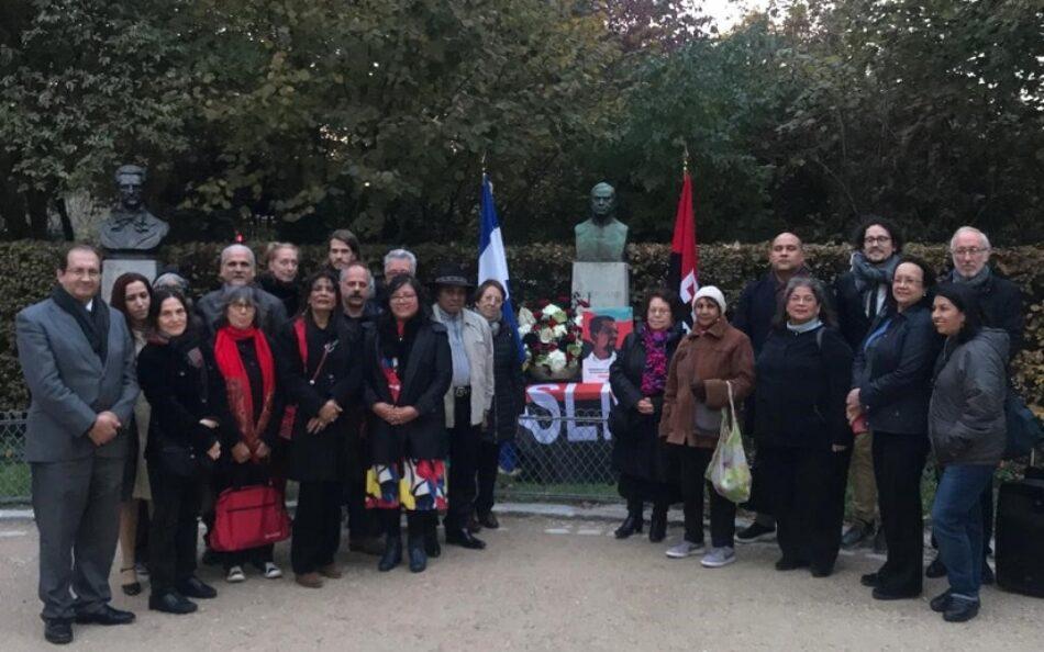 Homenaje en París al Comandante Carlos Fonseca Amador, fundador del Frente Sandinista