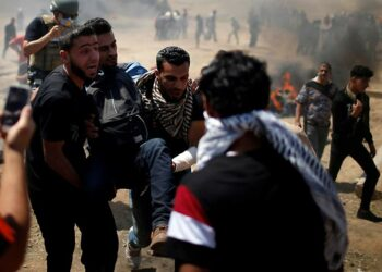 14 palestinos heridos en protestas en Gaza