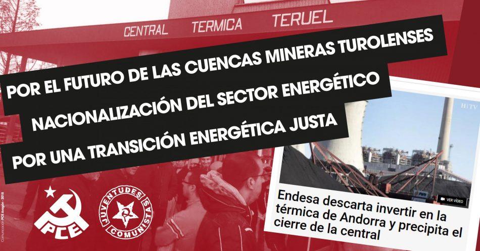 Endesa comunica al Ministerio de Transición Ecológica su intención de cerrar de manera inmediata las centrales térmicas de Andorra (Teruel) y de Cubillos del Sil (León)