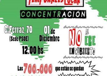 «Temporales en lucha» convoca una concentración frente a la sede del PSOE en Ferraz contra «el ERE encubierto» en las Administraciones Públicas