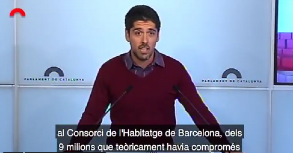 Catalunya en Comú Podem denuncia retallades d'Aragonès en habitatge i recerca