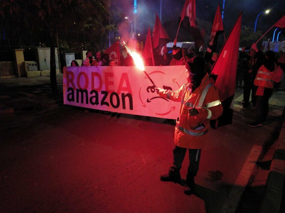 Masiva manifestación en San Fernando de Henares ante los abusos laborales de Amazon