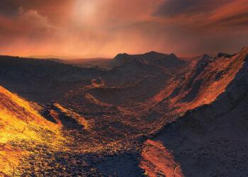Segundo planeta más cercano al sistema solar. Una supertierra helada orbita alrededor de una estrella cercana