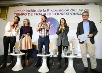 Unidos Podemos presenta una ley histórica para una nueva organización del tiempo en el trabajo compatible con los cuidados y la vida