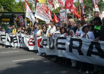 Protestas masivas en Argentina en el marco de la celebración de la reunión del G-20