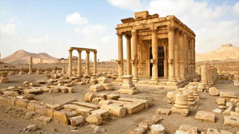 Restauran en Siria artefactos de Palmira destruidos por Daesh