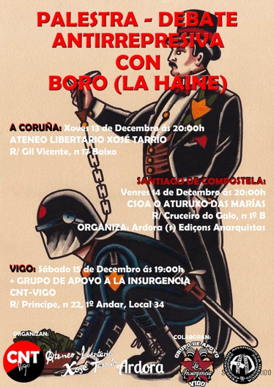 Palestra antirrepresiva en CNT-Vigo: La Insurgencia + Boro (La Haine)