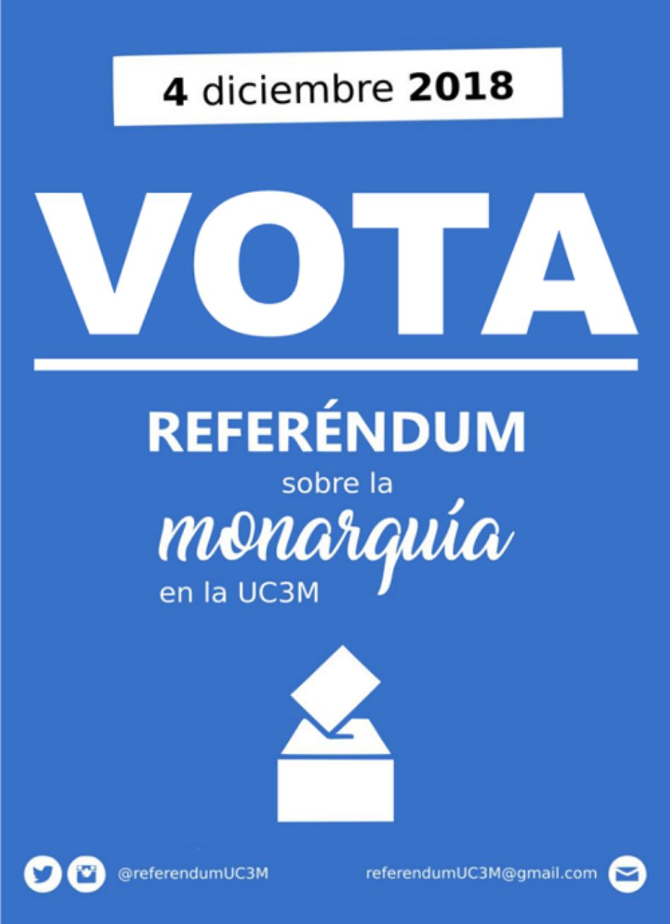 Tras el éxito  del Referéndum de la Universidad Autónoma y de las Consultas Populares de ayer, la Universidad Carlos III convoca el suyo mañana