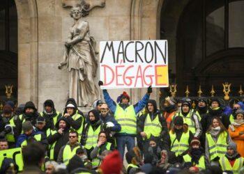 Quinta movilización de los chalecos amarillos en Francia