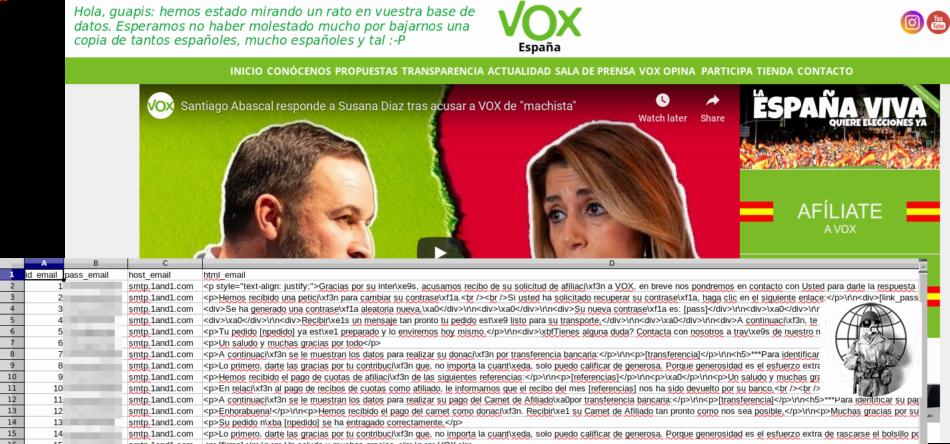Anonymous 'hackea' la web del partido de extrema derecha español Vox: «estábamos en vuestras alcantarillas hace tiempo»