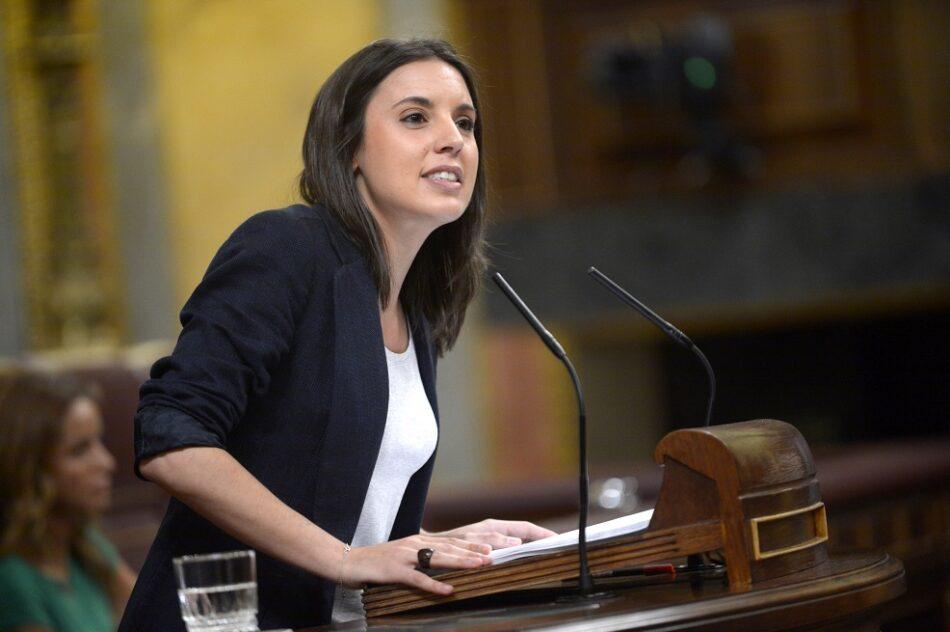 """Irene Montero: """"El pacto constitucional está roto y hay que reconstruirlo"""""""