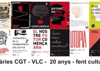 """Les Jornades Llibertàries celebren la seua XX edició amb el lema """"I els pobles es mouen. Fent cultura, sumant veus"""""""