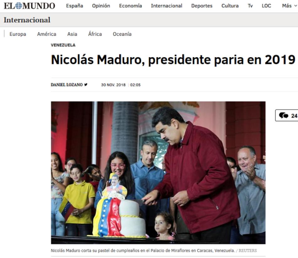 Diario El Mundo de España arrecia su ofensiva mediática para «blanquear» hostilidad contra Venezuela