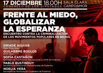Unidos Podemos celebra un encuentro con movimientos populares de Brasil